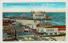 old atlantic city photos | Atlantic City New Jersey NJ 1920 Steel Pier & Garden Pier Vintage ...