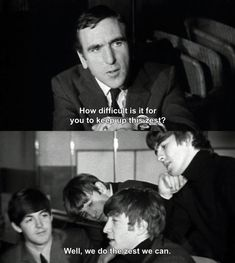 When Ringo dropped a pretty top-notch dad joke. | 17 Times The Beatles Were Actually Hilarious