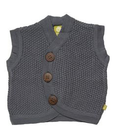 Love this Charcoal Organic Wool Sweater Vest - Infant by Nui Organics on #zulily! #zulilyfinds