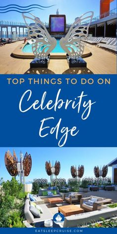 Top Things to Do on Celebrity Edge - Our list of the Top Things to Do on Celebrity Edge is the perfect place to start planning your trip on this innovative vessel. Cruise Checklist, Cruise Tips, Cruise Travel, Cruise Vacation, Eden Restaurant, Cruise Reviews, Celebrity Cruises, Rooftop Garden, Alaska Cruise