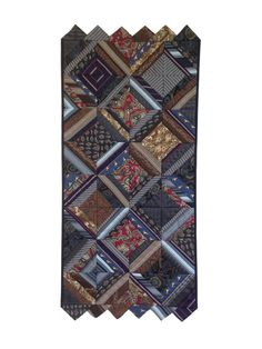 Necktie remembrance quilt by Margie Davidson. Exhibitions of the Fibre Art Network; Ekphrastic