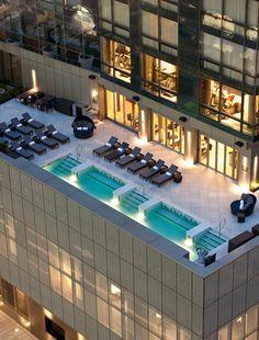 "nonconcept: ""Trum Soho pool area, New York. "" - nonconcept: Trum Soho pool area, New York. Nyc Hotels, New York Hotels, Best Hotels, Trump Hotels, Luxury Travel, Soho Hotel New York, New York City, Architecture, Bon Voyage"