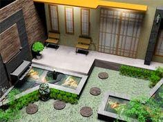 Desain Taman Mini Rumah Minimalis Terbaru - Yang tidak boleh terlewatkan dari desain rumah minimalis adalah sebuah taman rumah. Rumah akan semakin terlihat lebih alami, semarak, dan