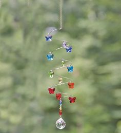 Butterfly Suncatcher With Austrian Crystal