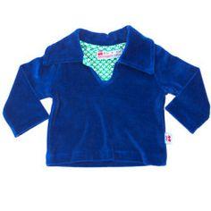 Velvet sweater dark blue