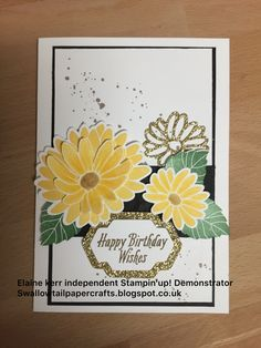 Stampin' Up, Special Reason daffodil delight, gold