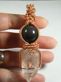 Woven wire wrapped  large Clear Quartz by NoStoneLeftUnturned, $30.00