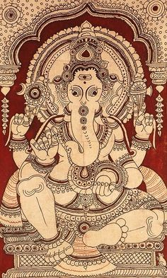 Buy similar kalamakari painting from Bringing It All Back Home http://bringingitallbackhome.co.uk