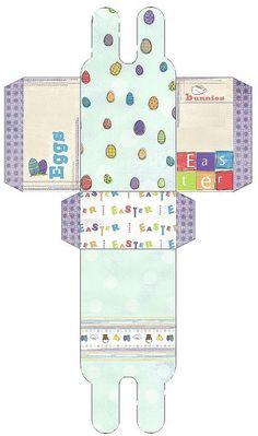 printable Easter gift box template