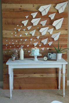 Paper airplane birthday More #aviationwedding