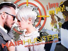 Neues Sujet aus einer Serie für Projektionen und Plakate von Hairhunter - 4x in Graz Corporate Design, Editorial Design, Web Design, My Love, Movies, Movie Posters, Simple Logos, Advertising Agency, Graz