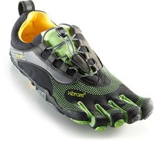 Designed specifically for natural running—Men's Vibram FiveFingers Bikila LS Running Shoes.