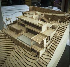 Madeira Balsa im Por . Maquette Architecture, Architecture Model Making, Wooden Architecture, Concept Architecture, Amazing Architecture, Landscape Architecture, Architecture Design, Arch Model, Building Design