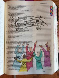 Psalm Sing Praises to Him Bible journaling Bible Drawing, Bible Doodling, Scripture Art, Bible Art, Bible Prayers, Bible Scriptures, Psalm 105, Journaling, Bible College
