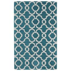 Kaleen Revolution Teal & White Area Rug & Reviews | Wayfair