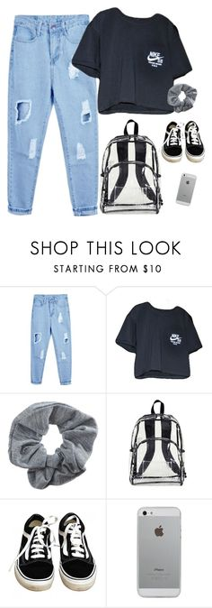 """""""nike ft. vans"""" by chanelandcoke ❤ liked on Polyvore featuring NIKE, Topshop, Eastsport, Vans and Luvvitt"""