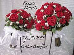 Red and White Bouquets