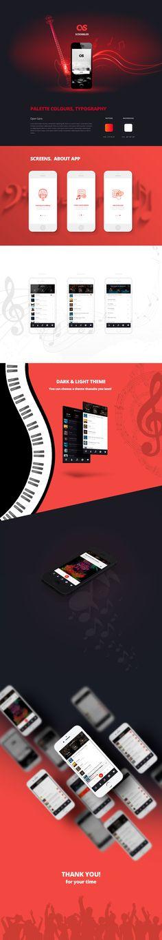 Music App. Last.fm Scrobbler. on Behance