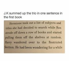 This is the best description of the golden trio