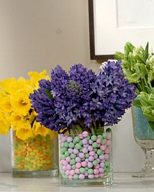 I am making this Easter themed floral arrangement with the kids tomorrow