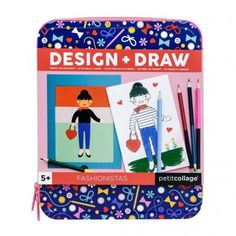 Mix and match characters to create your favorite combinations and use the drawing pad to bring the designs to life! This magnetic activity set from Petit Collage comes in a keepsake tin case with a zipper closure so it's ready for on-the-go fun. Paper Doll Chain, Paper Dolls, Nativity Advent Calendar, Dinosaur Coloring, Pencil Boxes, 2 Pencil, Wolf Design, Jewelry Kits, Collage Design