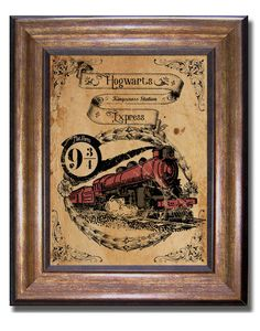 Harry Potter  Vintage Style Hogwarts Express  by MyChildishThings