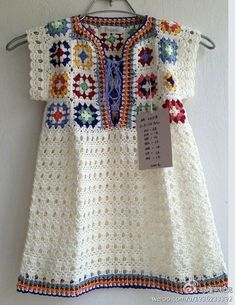 Transcendent Crochet a Solid Granny Square Ideas. Inconceivable Crochet a Solid Granny Square Ideas. Mode Crochet, Crochet Tunic, Crochet Girls, Crochet Woman, Crochet Granny, Crochet For Kids, Crochet Clothes, Easy Crochet, Crochet Baby