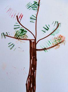 yarn fall tree craft for kids