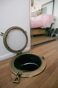 Laundry chute porthole for Mary, she might actually use this one