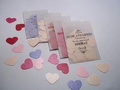 Personnalisé mariage Confetti vélin sacs remplis de confettis de reflets métalliques sur Etsy, 1,25 €