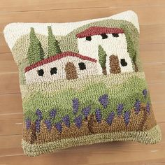 Punch Needle Patterns, Stitch Patterns, Cushion Fabric, Needle Cushion, Hand Hooked Rugs, Unique Crochet, Weaving Projects, Handmade Pillows, Rug Hooking