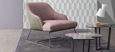 Delightful and enchanting silhouettes adapt to any interior décor. The sinuous and curvilinear shapes of the Blazer armchair enhance its comfort and character. Dining Room Furniture, Furniture Design, Interior Decorating, Interior Design, Italian Furniture, Club Chairs, Home Furnishings, Armchair, Upholstery