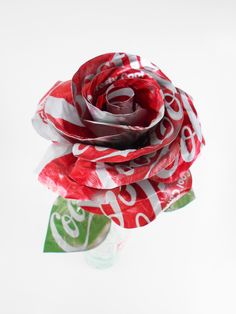 Coca-Cola Rose Coke Rose Metal Rose Metal Roses Metal Flower Metal Flowers Birthday Anniversary Valentine's Day - All About Coca Cola Decor, Coca Cola Can, World Of Coca Cola, Metal Roses, Metal Flowers, Coke Can Crafts, Soda Can Flowers, Soda Can Art, Aluminum Can Crafts
