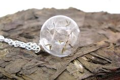 Adorable Dandelion Seeds Glass Globe Pendant door ScrappinCop
