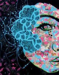 Comic Collage Women: PaperMonster Pop Art Stencil Portraits Are Full of Feminine Mixed Media Stencil Graffiti, Stencil Art, Graffiti Art, Stencils, Collage Portrait, Collage Art, Portraits, Collages, Art Toronto