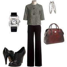 ladylike tweed...