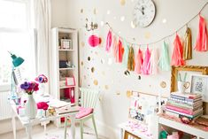 The perfect home office - so colourful and pretty! http://rockmystyle.co.uk/sundari-kumar-wedding-stylist/