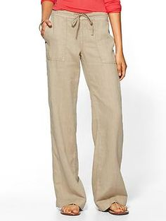Michael Stars Linen Drawstring Pant | Piperlime.... Look so comfy!!! Must have for spring!!!!