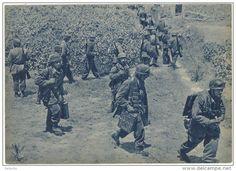 Greece 1941 Battle of Crete - German parachutists/paratroopers landing