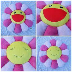 Kawaii Kaikaikiki Takashi Murakami Flower Pillow Cushion (Pink & Yellow - 1 meter) - Japan Lover Me Store