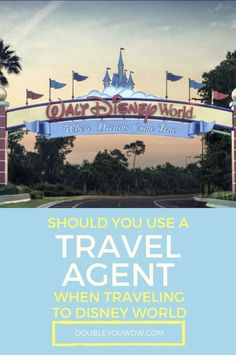 Should you find a travel agent when planning your trip to Disney World? Get the pros and cons of having a travel agent book your Disney World vacation. Disney world planning tips and tricks to help you get the most out of your vacation Disney World Parks, Walt Disney World Vacations, Best Resorts, Disney World Resorts, Disney Trips, Disney World Travel Agent, Disney Deals, Disney Travel, Disney Vacation Planning