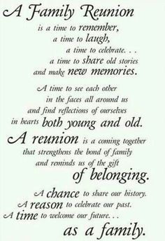 reunion quotes family - Google Search