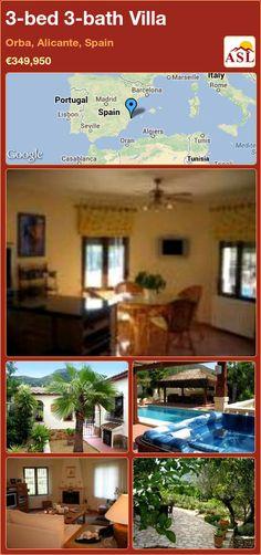 3-bed 3-bath Villa in Orba, Alicante, Spain ►€349,950 #PropertyForSaleInSpain