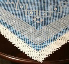Toalha de mesa: ponto cruz duplo - 2