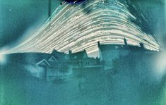 Photo of six month long exposure of street in Bristol UK using a beer can converted into a pinhole camera.