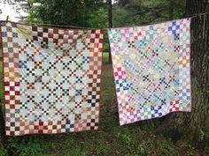 • Make the traditional nine-patch block in two sizes for a modern twist on an old favorite. • Pattern uses only squares. • This quilt is fun