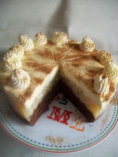 chute a vône mojej kuchyne.: Jablkova torta s uzasnou mascarpone plnkou Dessert Recipes, Desserts, Celebration Cakes, Nutella, Tiramisu, Tea Time, Bakery, Food And Drink, Cheesecake