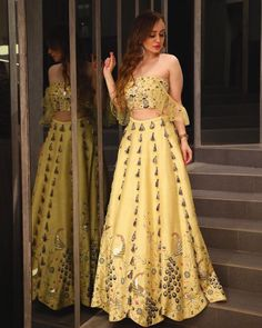 Oct 2019 - Buy beautiful Designer fully custom made bridal lehenga choli and party wear lehenga choli on Beautiful Latest Designs available in all comfortable price range.Buy Designer Collection Online : Call/ WhatsApp us on : Indian Fashion Dresses, Indian Bridal Outfits, Indian Gowns Dresses, Dress Indian Style, Indian Designer Outfits, Designer Dresses, Pakistani Dresses, Fashion Outfits, Lehenga Designs