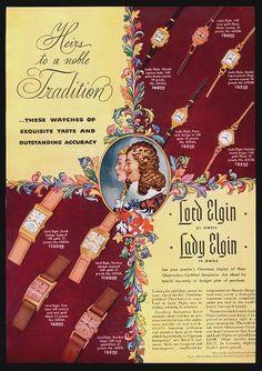 Elgin (Lord Elgin / Lady Elgin) watch ad
