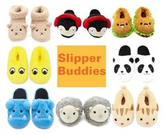 """Slipper Buddies"" by forever21 ❤ liked on Polyvore featuring Forever 21"